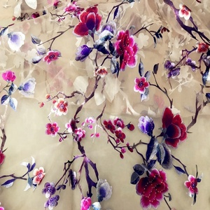 Printed Flora Organza Fabric for Garment