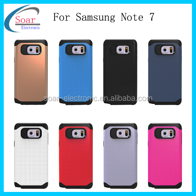 Factory promation protective cellphone case for Samsung Galaxy Note 7,2 in 1 back cover case for Samsung Galaxy Note 7