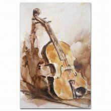 Handmade original musical instruments violin canvas oil painting calligraphy