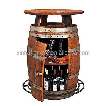 Table Baril personnalisé vintage bois de chêne baril armoire À vin,bistro table