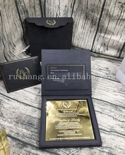 2018 New Design Mirror Acrylic Invitation With Royal Black Hardcover Box