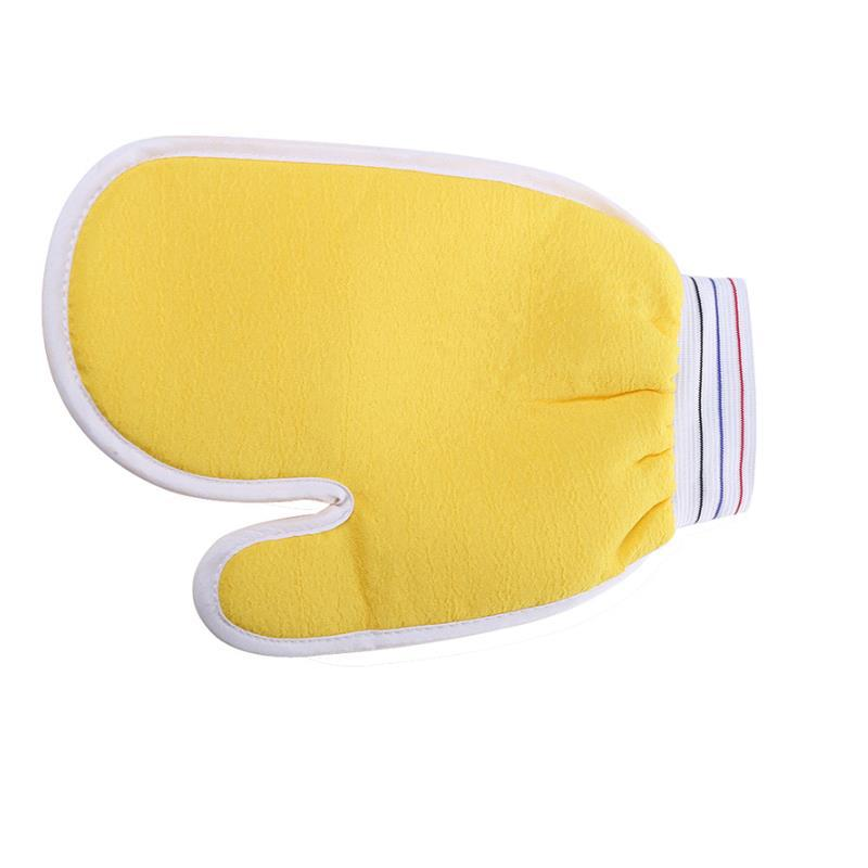 microfiber towel toalla microfibra Yellow towel plant fiber + 15.5 * 21cm Bath Gloves turbante bathroom