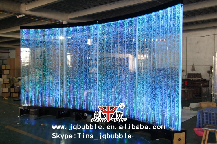 Acrylic Led Water Bubble Square Column Restaurant Divider
