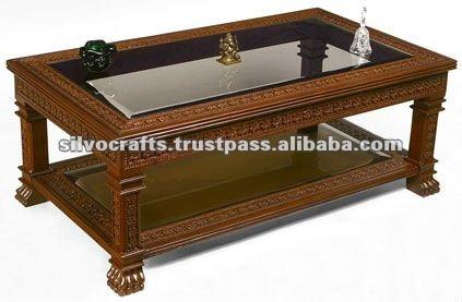 madera tallada len pata mesa muebles tallados de la