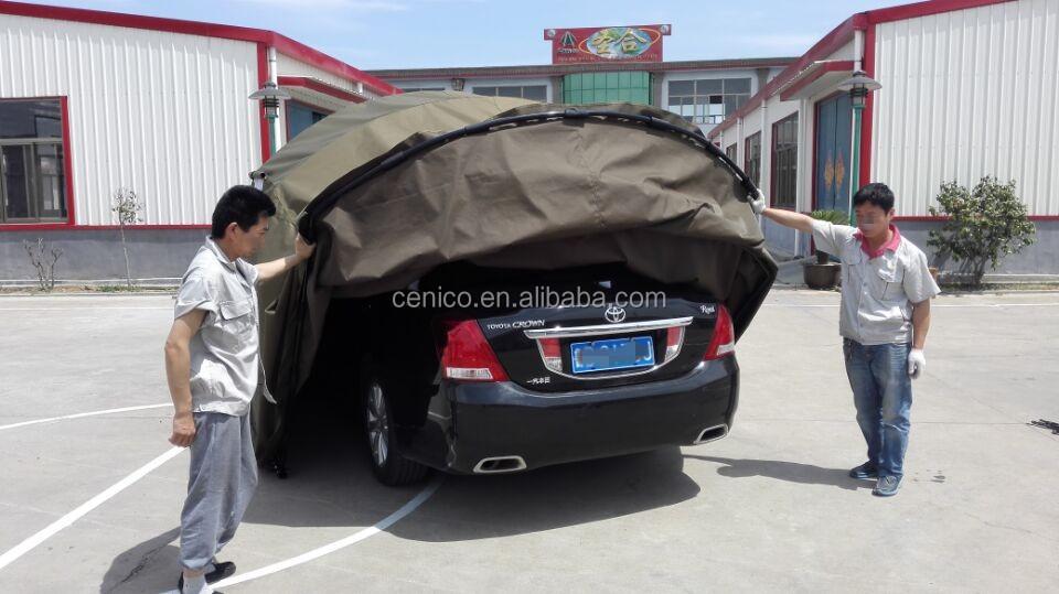 Pliable de voiture abri pliage de voiture garage pliable for Tente garage auto