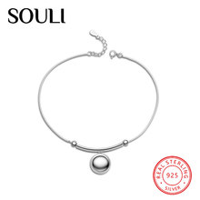 Exquisite Feet Jewelry Elegance Design 925 Sterling Silver Ball Anklet