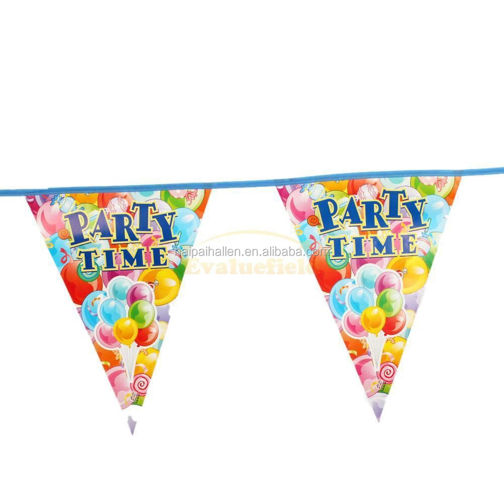 Personalized Paper Happy Birthday Banner With Balloons