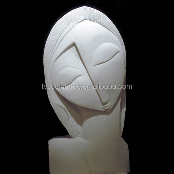 Beautiful Home Design Abstract Marble Human Young Girl Head Art