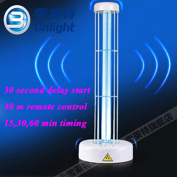 Fluorescent Light Delayed Start: 38w Uvc Sterilizaing Table Lamp