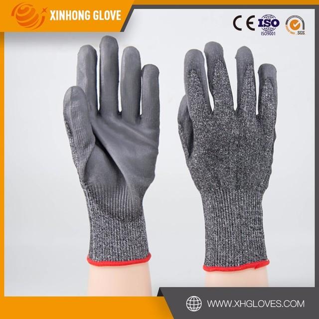 Xinhong Light Duty Work Glove PU Palm Coated Top Fit Glove Black PU Palm  Fit Glove