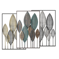 ready to ship 08002 home wall decor leaf shape iron antique craft wall hanging