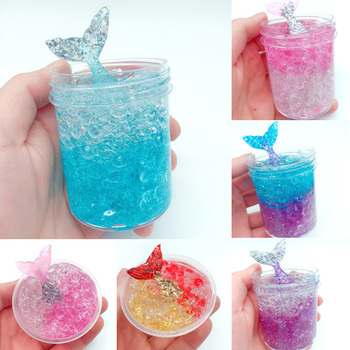 For Kids And Adults Cute Diy Jelly Cube Slime Stress Relief Toy Mermaid Scented Sludge Toy Buy Jelly Cube Slime Stress Relief Toy Sludge Toy Product