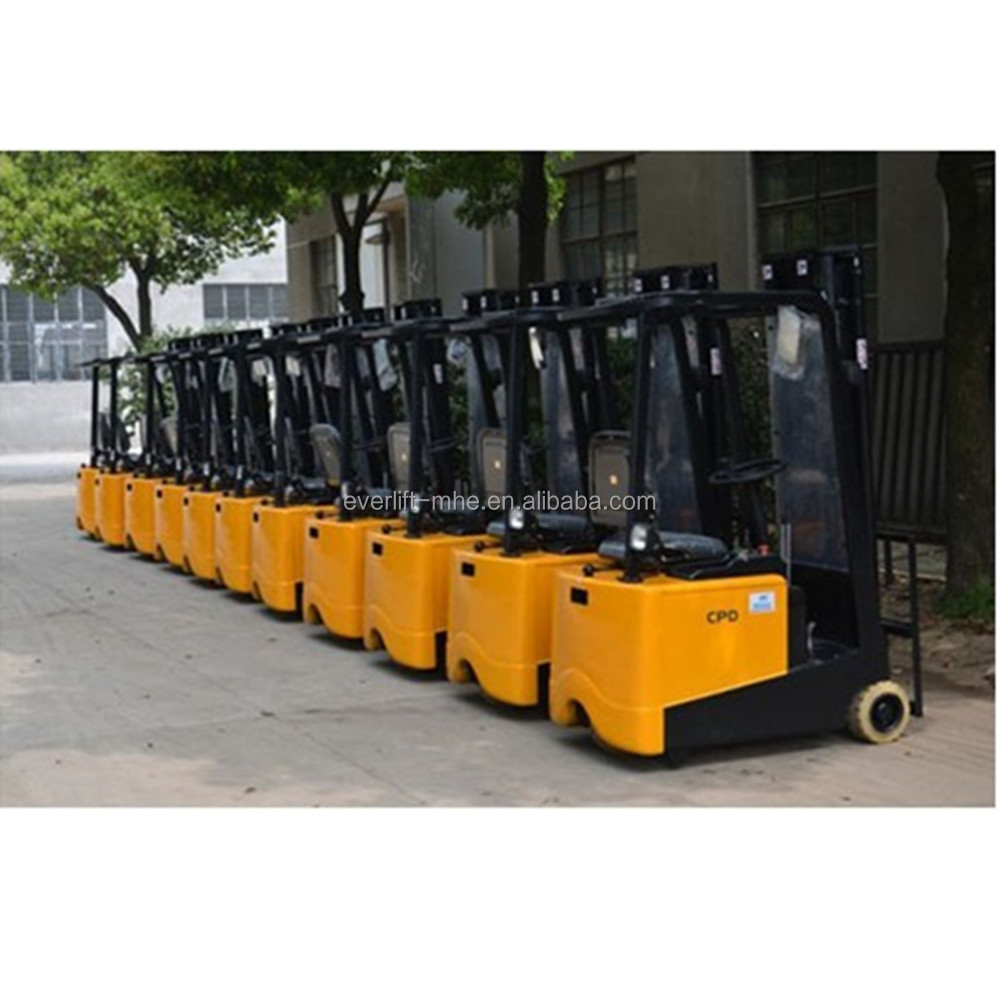 Mini electric forklift truck for small container use