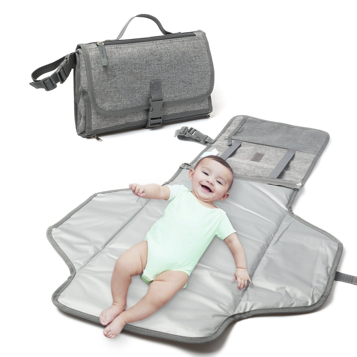 Large Diaper Changing Pad Luxury Clutch Portable Travel Mat for Baby