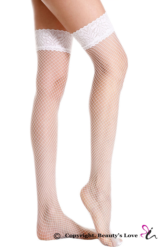 828483de7 Beauty s Love sexy fishnet stockings women nylon tights black white red 3  colors lace top fishnet