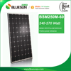 High Efficiency mono 260 sunpower solar panel efficiency 260w mono solar pv made in China