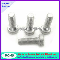 Fine thread pitch cheese head machine screws with dacromet finishing