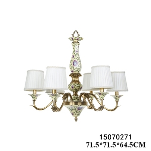 New design factory direct modern indoor lighting antique chandelier lighting with brass & porcelain painting