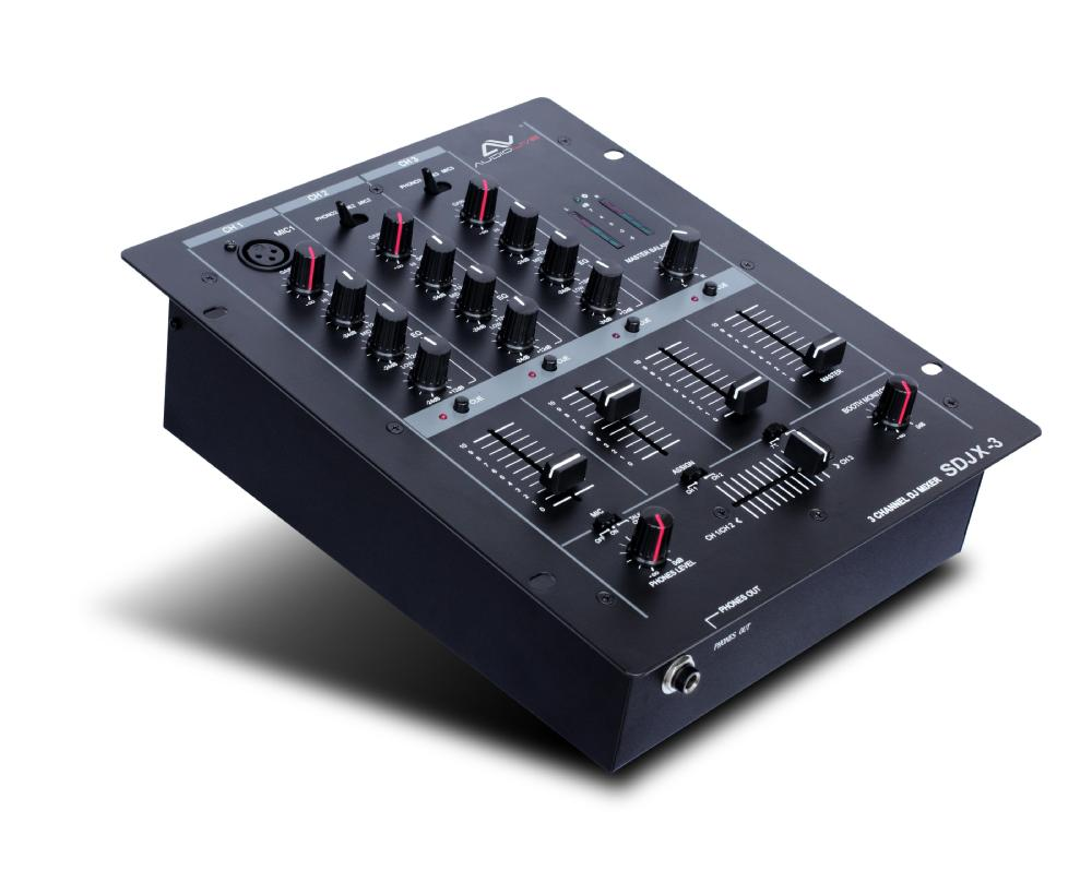 SDJX-3 best selling 2015 popular 3 channel mp3 audio dj mixer
