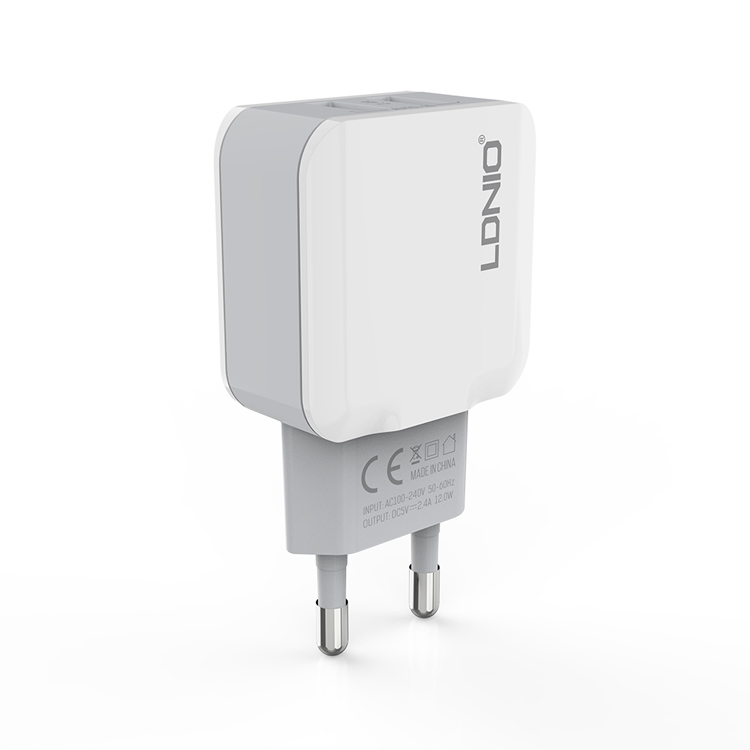 LDNIO dual port micro usb wall charger EU plug USB adapter