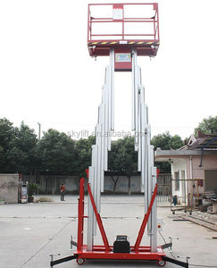 two mast aluminum folding mobile scaffold mobile trailer lift platform