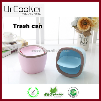 New Household Products 2017 Plastic Dustbin Table Dustbin Trash Can