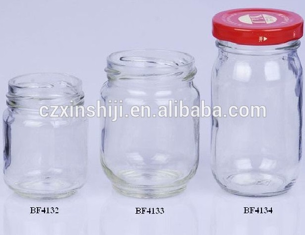 Storage glass jar with metal lid
