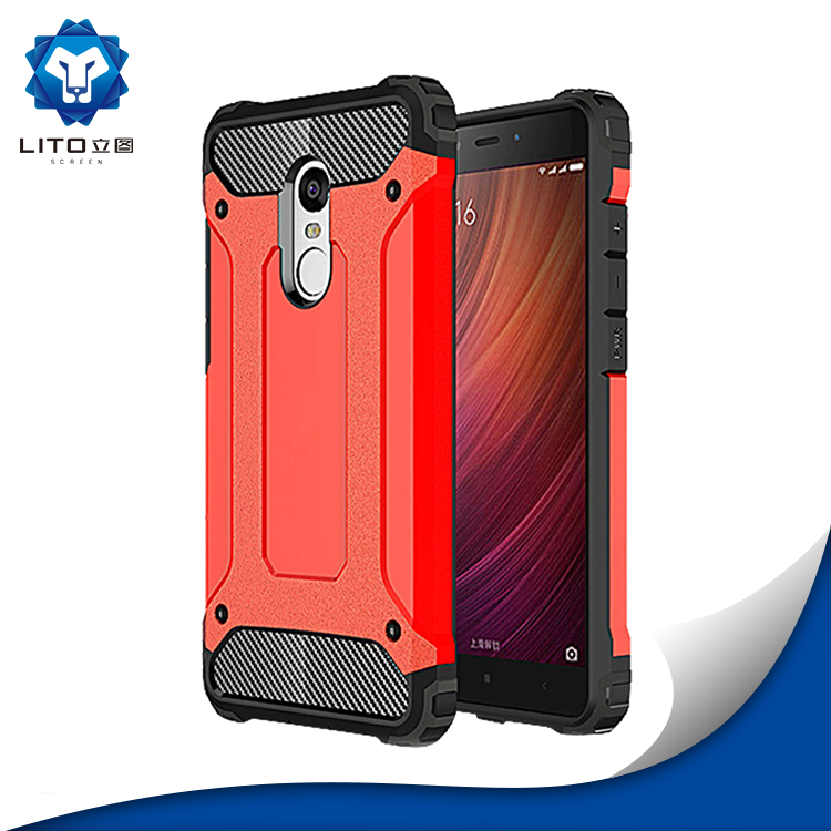 Combo Armor Phone Case Manufacturing, Back Cover Case For Xiaomi Redmi Note 4