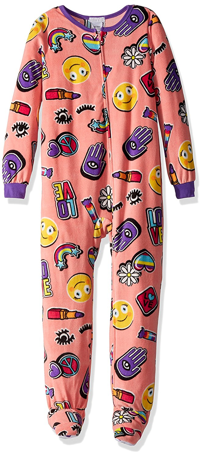Get Quotations · Komar Kids Big Girls  Plush Velour Fleece Footed Blanket  Sleeper Pajama 53088facd
