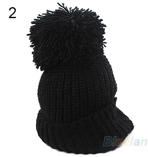 Women's Winter Warm Cuffed Beanie Crochet Knitting Wool Hat