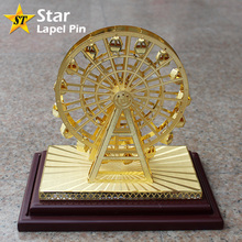 Wholesale Gift Ferris Wheel 3D Metal Brass Miniature Model