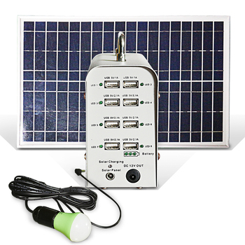 Solar power portable charge station solar power bank  mobile charge device