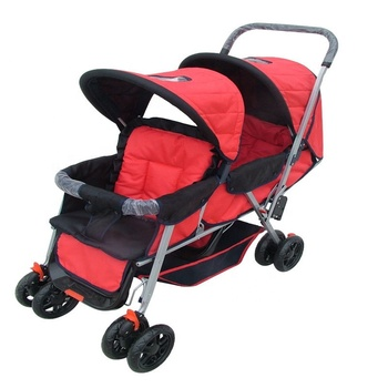 Twin Stroller Cheap Baby Stroller Pram Double Seat Foldable Hot-sale Carriage China Manufacturer