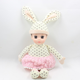 Vinyl baby plush dolls 14inches cute and soft doll with a rabbit ear and dress for baby for children