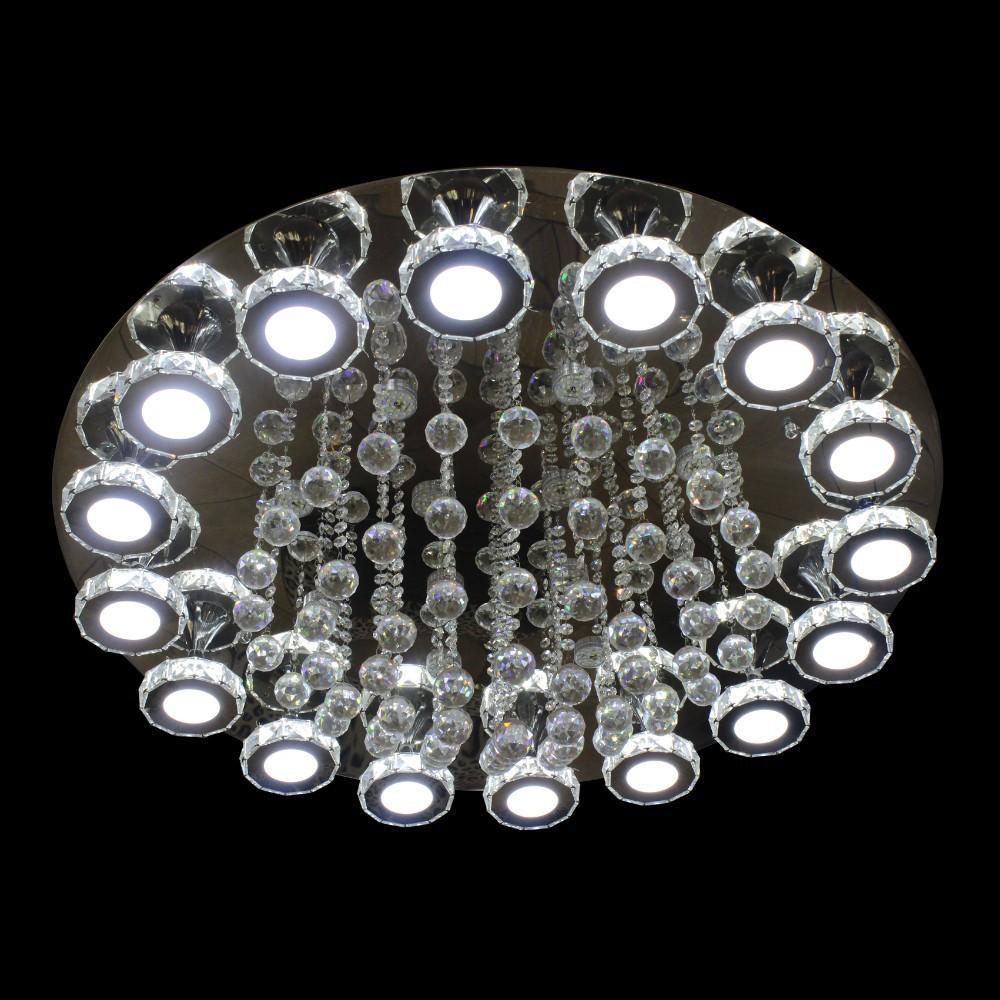 Moderna l mpara led cystal falso techo para living room - Iluminacion por led hogar ...