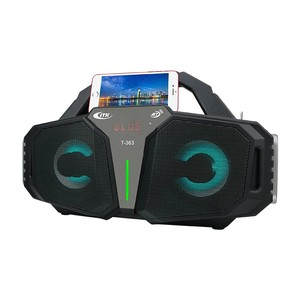 2018 Boombox Speaker Karaoke LED Portable Wireless Stereo Speaker Boombox AUX /SD/USB/Karaoke