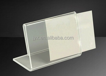 High quality acrylic price tag holder acrylic name tag for How to use table tag in html
