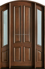65'' * 96'' *4 9/16'' Exterior mahogany solid wood arch door with two side lites