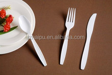 HP2E disposable plastic set of cutlery with soup spoon
