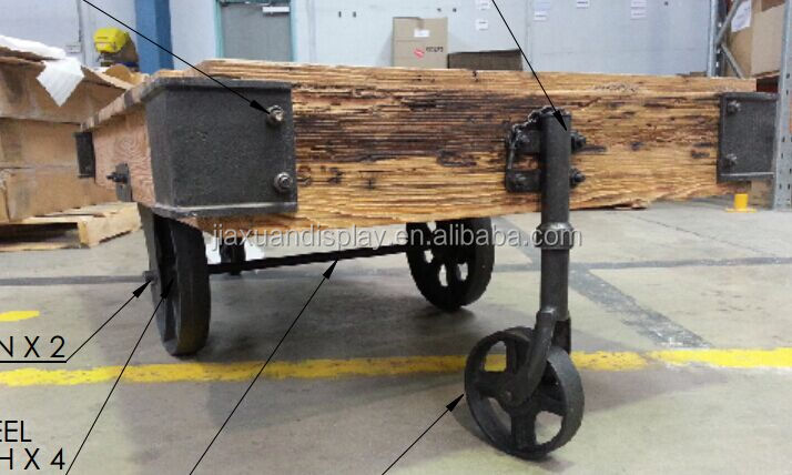 Industriele Meubels Vintage.Industriele Meubels Ijzeren Wielen Vintage Winkelwagen Salontafel