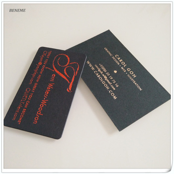 32pt matt black paper red gold foil stamped print metallic business cards - Foil Print Business Cards