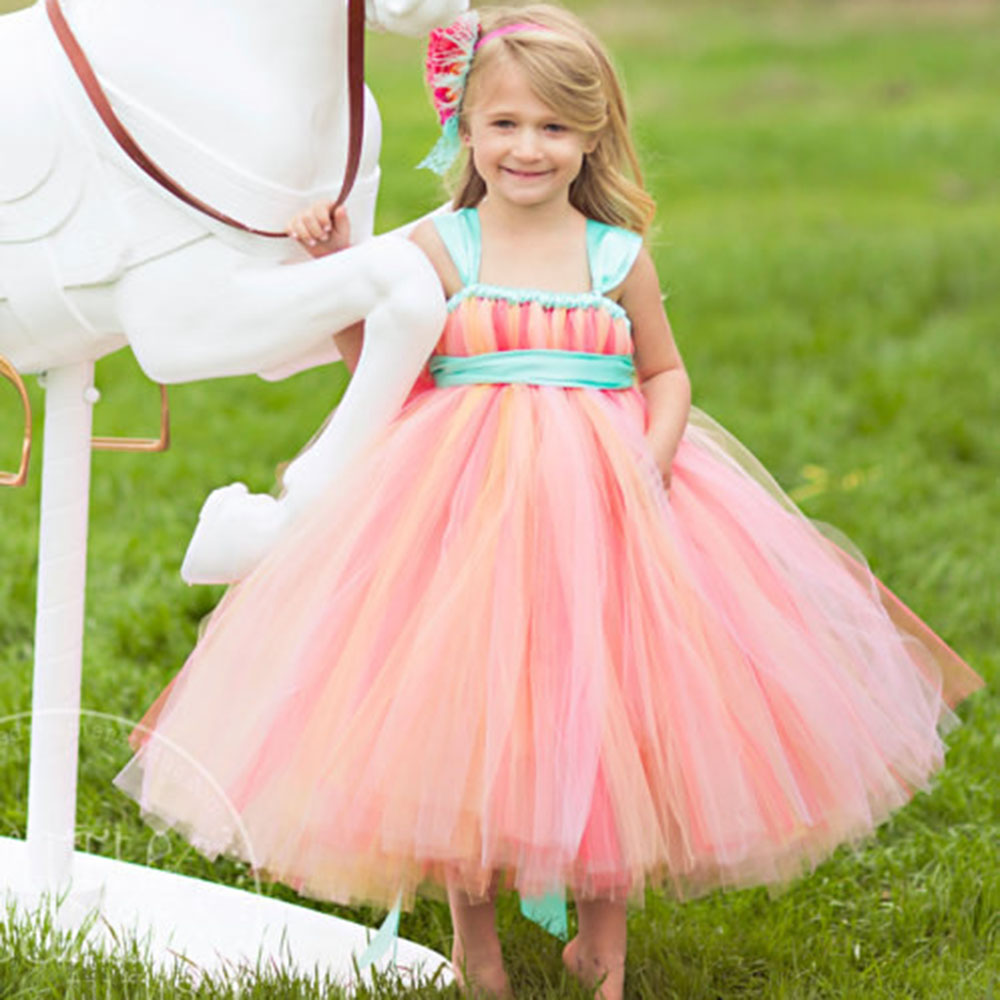Pageant Dresses For Little Girls Corals Peach Mint Green