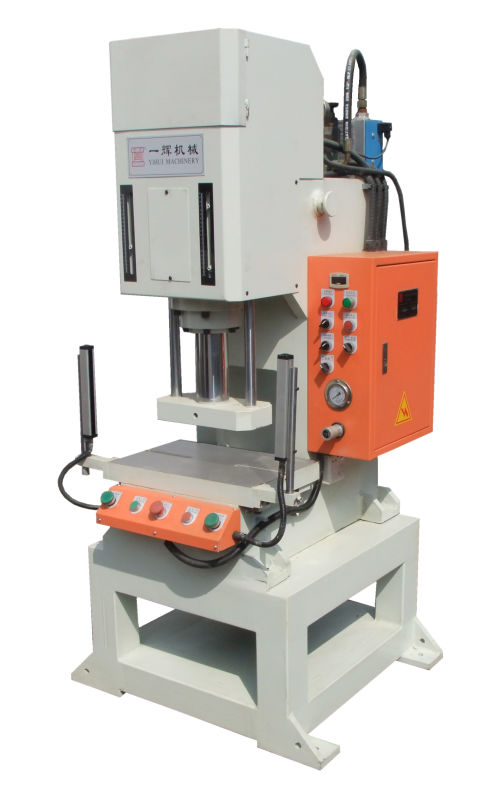 semi-automatic hydraulic press machine 5 ton for fitting punching stamping shaping and samll parts of the press fit assembly