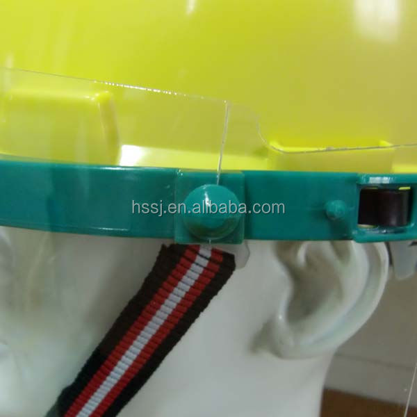OEM MZ-18 face shield and bracke with hard hat meets EN 166: 2001 standard full face protection mask plastic face mask on helmet