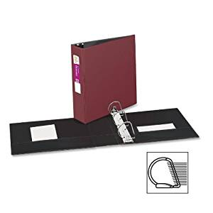 Avery Products - Avery - Durable EZ-Turn Ring Reference Binder, 11 x 8-1/2, 3quot; Cap, Burgundy - Sold As 1 Each - Unique EZ-TurnTM ring design for smoother page turning. - Gap FreeTM feature prevents ring misalignment. - Back-mounted rings allow pages to lie flat. - Two inside pockets store