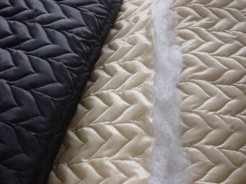 100% Polyester /quilting/ Embroidery/high Quality Quilted Fabric ... : quilted fabric - Adamdwight.com