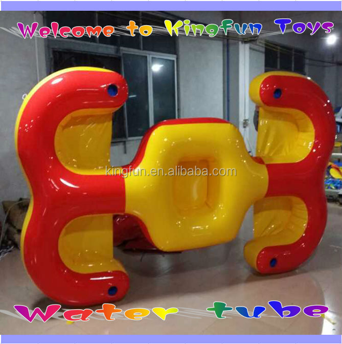 4 person floating inflatable water tube with cup