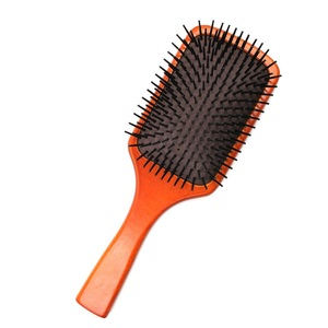 Wood Material Nylon Hairbrush Anti-static Paddle Hair brush Combs