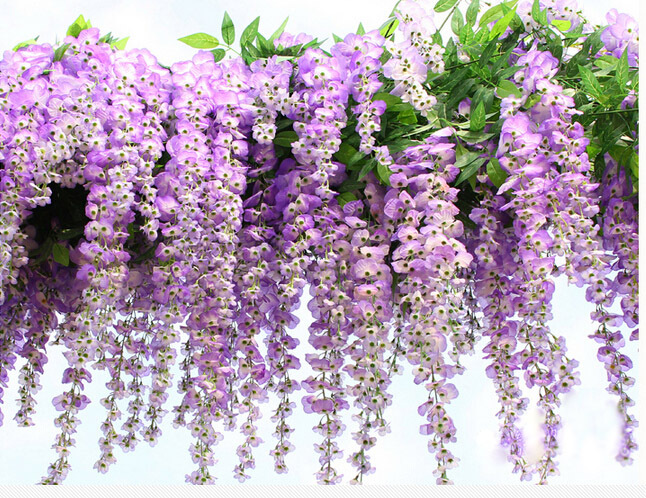 105cm Tall Hand Made Artificial Wisteria Tree White Flower For ...