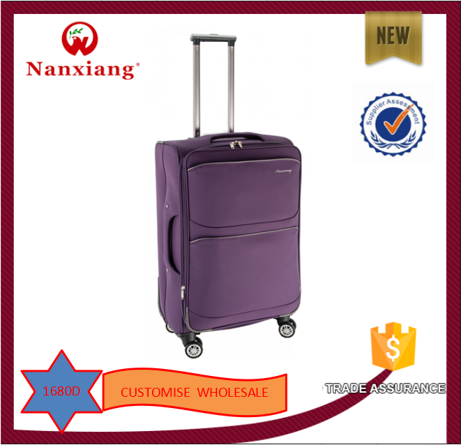 2015 new Jacquard design lightweight trolley luggage